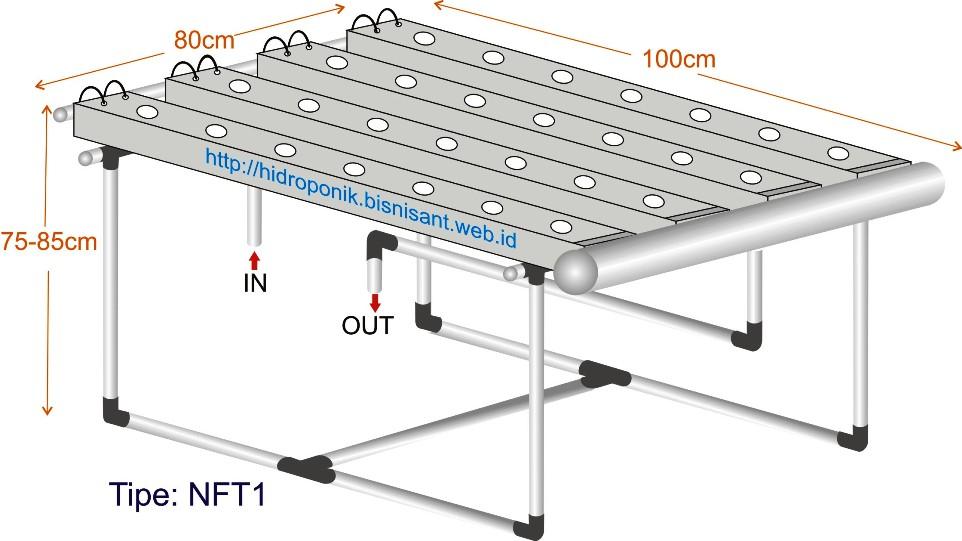 Starter kit Hidroponik NFT system
